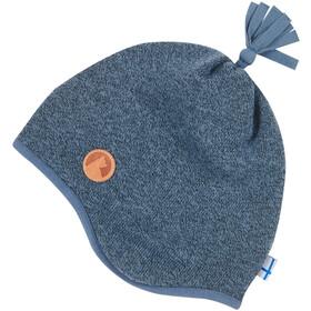 Finkid Tipu Bonnet en maille tricotée Enfant, blue mirage